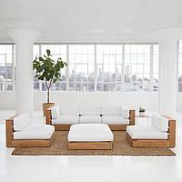 """Комплект мягкой мебели """"Сендлер"""" диван, кресла и пуф"""