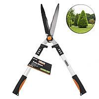 Садовые ножницы Finder No.191602 волнистые 670мм стальные для стрижки травы и кустов удлиненные ручки