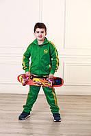 Костюм детский спортивный зеленый с желтыми полосками Point ONE