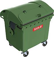 Контейнер 1100 литров SULO зеленый сферическая крышка