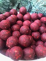 """Бойлы пылящие """"strawberry halibut"""" 24мм 1кг STZbaits"""
