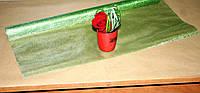 Зеленая органза для упаковки металлизированная Gauze