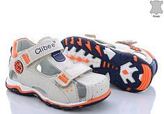 Детские босоножки сандалии для мальчика бежевые кожа Clibee 25р 15см