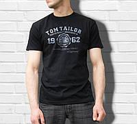 """Мужская футболка c надписью в стиле """"TOM TAYLOR""""  100% хлопок"""