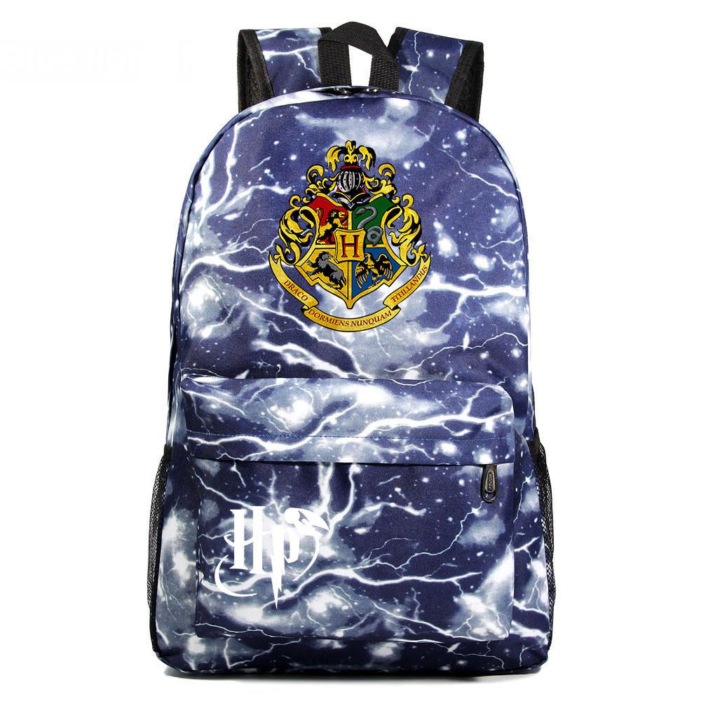 Рюкзак Гарри Поттер Хогвартс с гербом факультетов Hufflepuff.