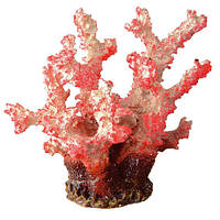 Декоративный коралл из полиуретана Ferplast BLU 9133 Red Coral для аквариумов, 10 см