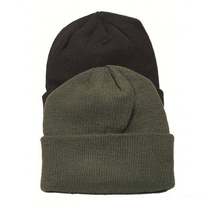 Вязаная акриловая шапка MilTec Olive 12133001, фото 2