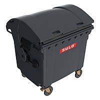 Контейнер для ТБО 1100 лит со сферической крышкой чёрный (Германия)