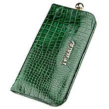 Кошелек кожаный с тиснением Guxilai 18962 Зеленый, КОД: 1579382