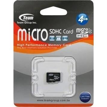 Карта пам'яті 4Gb Micro-Team SDHC class4