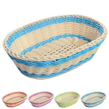 Кошик пластик. овал. для хліба 25х18см №R85151(100)