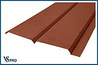 Сайдинг фасадный металлический Евро-Брус, RAL 8004 Цвет Медно-коричневый (матовый).