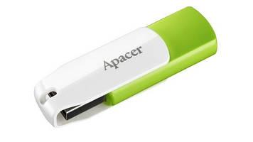 """Флеш-пам`ять 64GB """"Apacer"""" AH335 USB2.0 green/white №4361"""