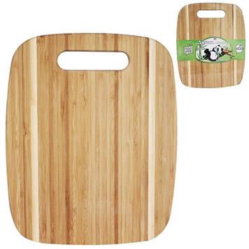 Дошка кухонна бамбук. з отвором 25х20см №8860/S&T/