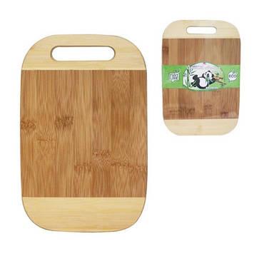 Дошка кухонна бамбук. з отвором 25х15см №8862/S&T/