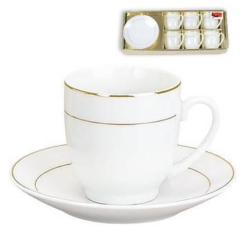 Набір кавовий керам. 12предм. (6чаш 90мл+6бл) №382-109/Bonadi/(16)