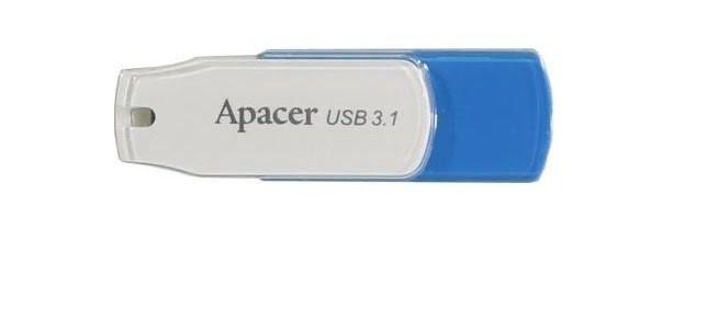 """Флеш-пам`ять 32GB """"Apacer"""" AH357 USB3.1 blue/white"""