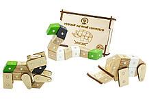 Магнитный конструктор Зевс Зоопарк 19 деталей ЗО1, КОД: 285371