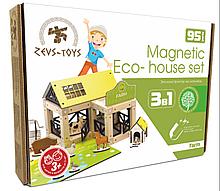 Эко-конструктор на магнитах Zevs-toys Farm 95 деталей 400328, КОД: 1187097