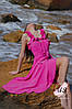 Летнее повседневное платье-сарафан ниже колена. цвета!