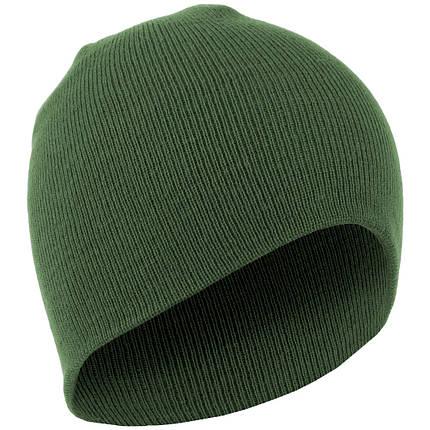 Зимняя акриловая шапка MilTec BEANIE Olive 12138001, фото 2