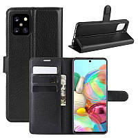Чохол Luxury для Samsung Galaxy Note 10 Lite (N770) книжка чорний, фото 1