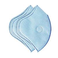 Набор сменных защитных фильтров для маски с 2 клапанами XoKo Голубой 2шт