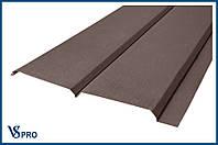Сайдинг фасадный металлический Евро-Брус, RAL 8017 Цвет Шоколадно-коричневый (матовый).