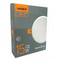 Круглый безрамочный LED светильник VIDEX 15W