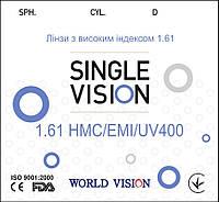 Линзы для очков СФЕРИЧЕСКИЕ/АСТИГМАТИЧЕСКИЕ ind. 1.61 VISION™ - Корея