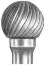 Борфреза твердосплавная сферическая (тип D) 18 мм хвостовик 10мм одинарная насечка
