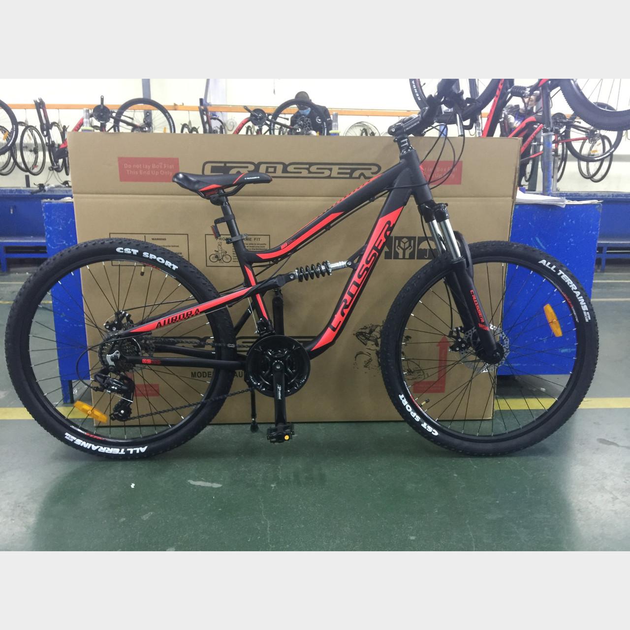 Велосипед алюминиевый горный Crosser Aurora 26 х 15  двухподвес