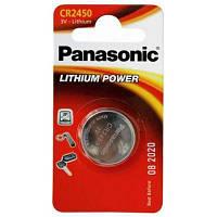 Батарейка PANASONIC CR 2450 * 1 LITHIUM (CR-2450EL/1B)