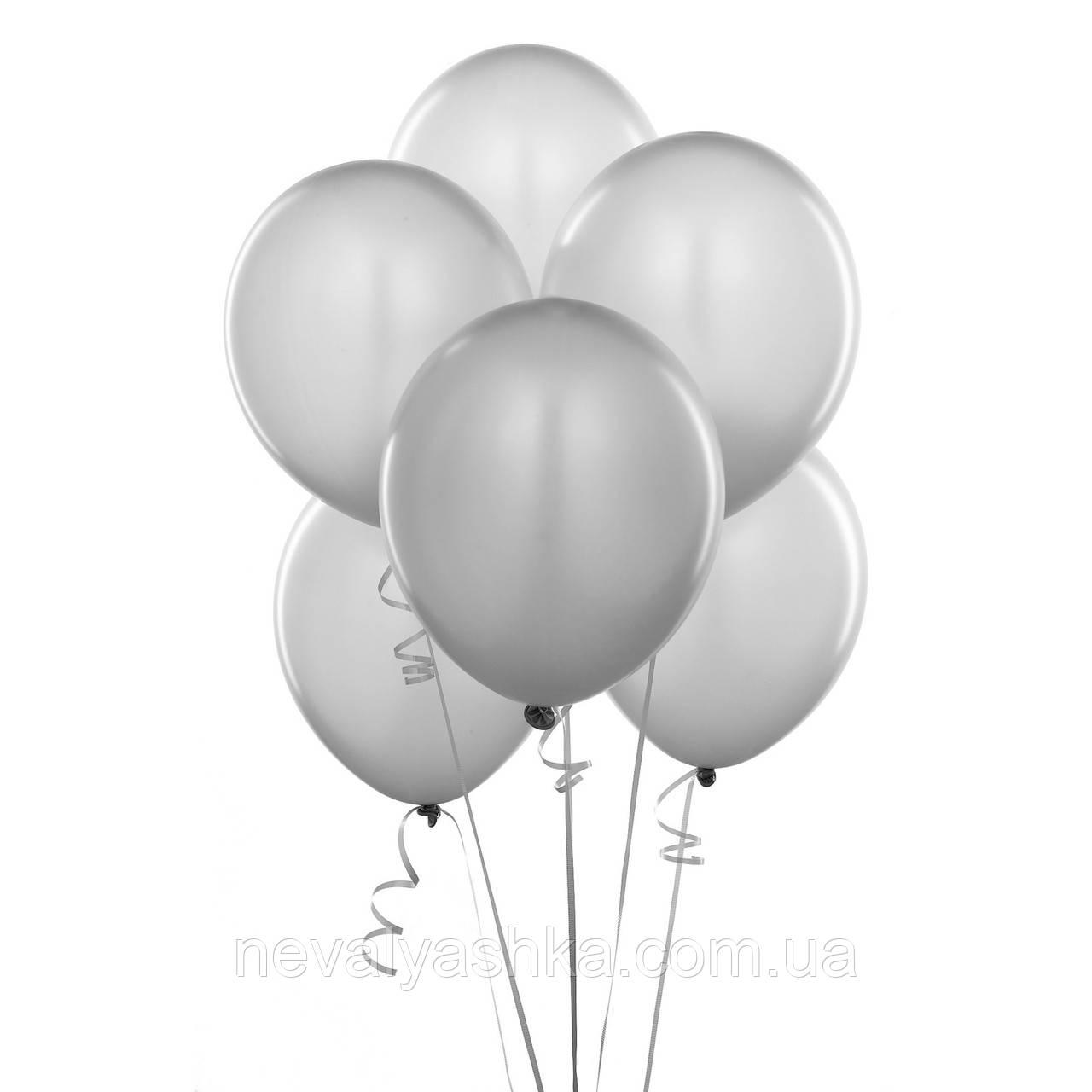 Шар Воздушный Серый Цвет 12 Латексные Шары Серые Шарики Надувные Воздушные Летекс 004316