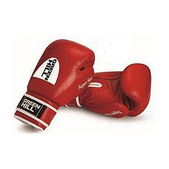 Перчатки бокс GREEN HILL Super Star AIBA 12 унц, кожа, красный