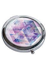 Зеркальце косметическое DevayS Maker DM 01 Синий Ромбы Разноцветное 22-08-436, КОД: 1239025