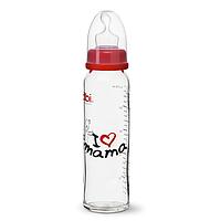 "Бутылочка для кормления детей зі стандартним горлечком, пластик, 250 мл ""I love mama"""