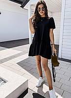 Летнее молодежное расклешенное платье для девушек размер 42-52, цвет уточняйте при заказе, фото 1