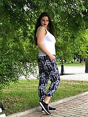 Летние брюки больших размеров для женщин легкие из штапеля, фото 2