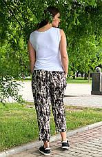 Летние брюки больших размеров для женщин легкие из штапеля, фото 3