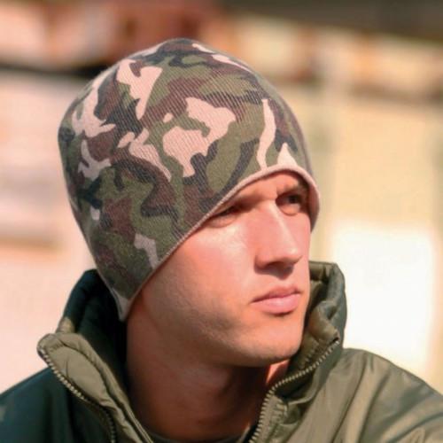 Зимняя акриловая шапка MilTec BEANIE Woodland 12138020