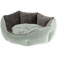 Бархатный диван Queen 45 Green-Grey для кошек и собак, 44x40x16 см