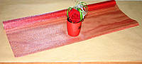 Красная органза для упаковки металлизированная Gauze