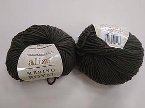 Пряжа для вязания Alize Мерино Роял (Merino Royal) хаки 284