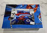 Комплект постельного белья детский Спайдермен полуторный размер Байка ( Фланель), фото 2