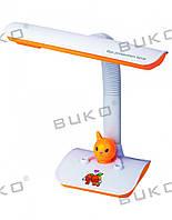 Настольная детская лампа WT025-11W G23 БЕЛЫЙ+ЖЕЛТЫЙ