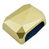УФ лампа для наращивания ногтей на 36 Вт Beauty nail CCF + Led сенсор гель, лак Золотой, фото 2