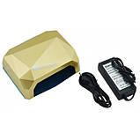 УФ лампа для наращивания ногтей на 36 Вт Beauty nail CCF + Led сенсор гель, лак Золотой, фото 5