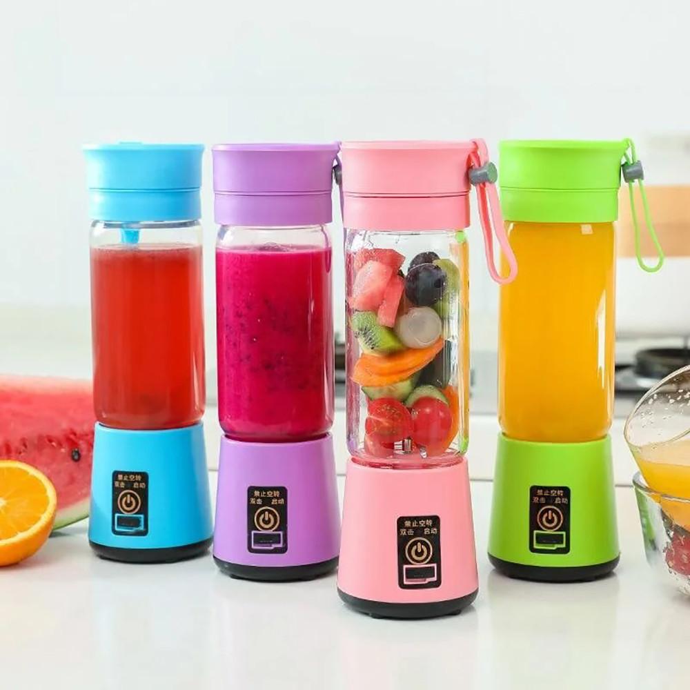 Портативный фитнес-блендер Smart Juice EL-HM-03-6 на 6 НОЖА + USB-зарядка + ПОДАРОК: Настенный Фонарик с