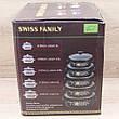 Набор Эмалированных кастрюль 5 шт. Swiss Family SF-673EDG Чёрный + ПОДАРОК: Настенный Фонарик с регулятором, фото 2